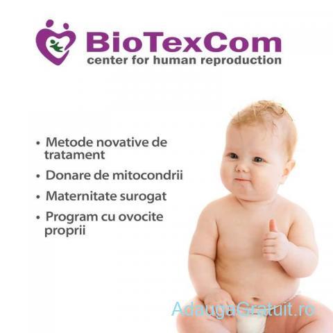 Centrul medical BioTexCom ofera servicii de FIV cu ovocite donate si programe cu mama purtatoare.