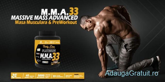 M.M.A 33 masa musculara rapida. Body Line producator suplimente nutritive.